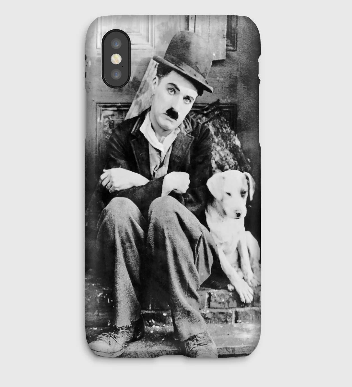Charlie Chaplin, coque pour iPhone XS, XS Max, XR, X, 8, 8+, 7, 7+, 6S, 6, 6S+, 6+, 5C, 5, 5S, 5SE, 4S, 4,