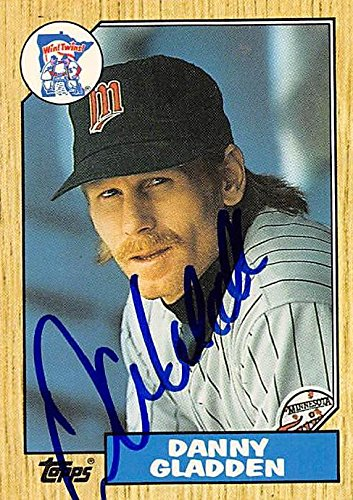 1987 Topps Traded Baseball (Dan Gladden autographed baseball card (Minnesota Twins) 1987 Topps Traded #38T - Baseball Slabbed Autographed Cards)