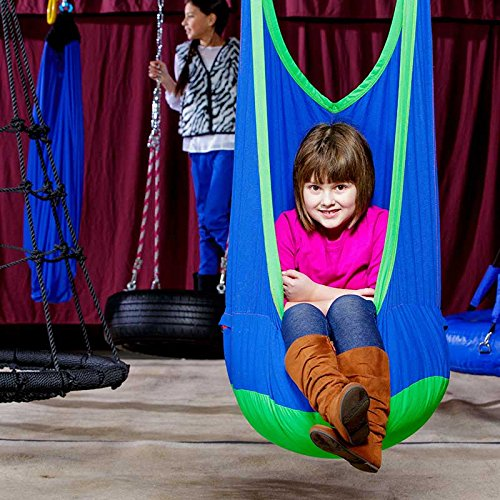 Fun and Function Cocoon Climbing Swing and Soothing Swing - Cozy Swing Provides Sensory Imagination for Ages 3 to 12