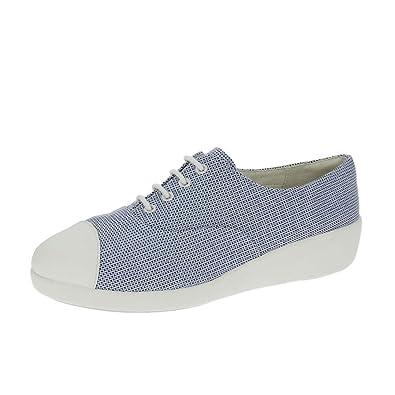 FitFlop™ F-Pop Oxford Canvas Shoes Blue Weave UK5.5 Blue