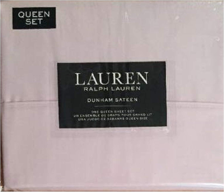 Ralph Lauren QUEEN 4pc Sheet Set RED SLATE Dunham Sateen Free Shipping