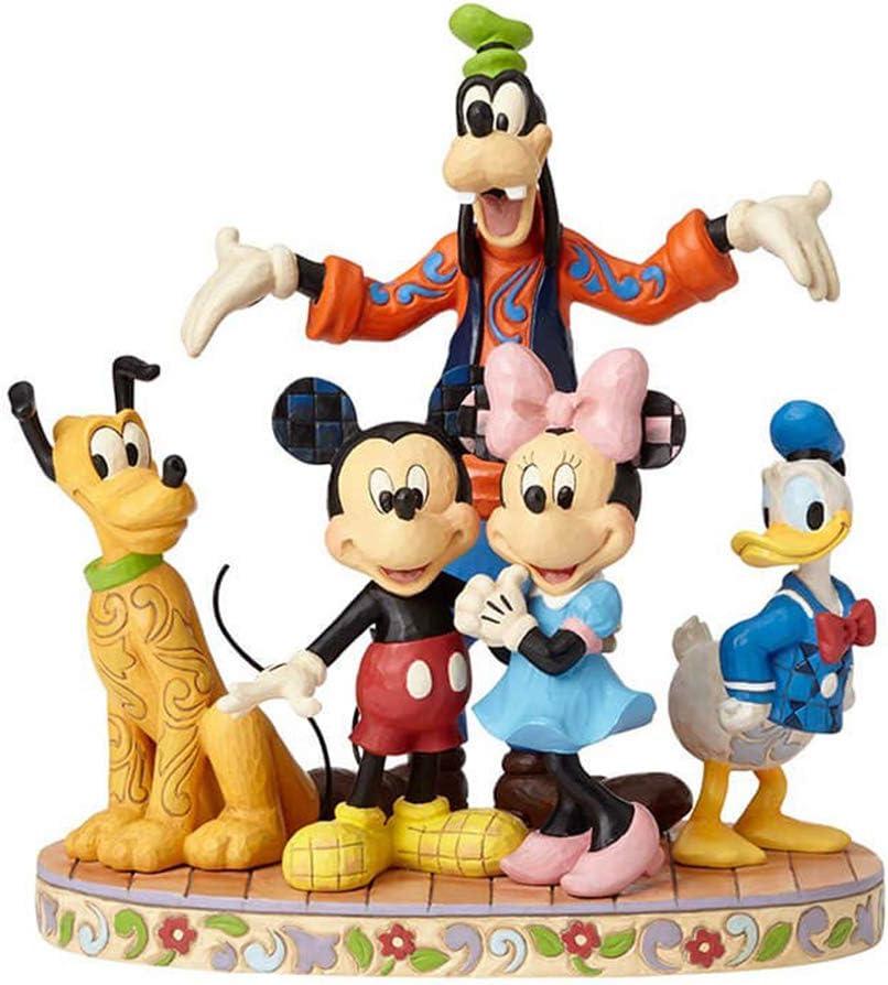 Jim Shore Disney Traditions by Enesco Fab 5 Mickey, Minnie, Donald, Goofy and Pluto Figurine