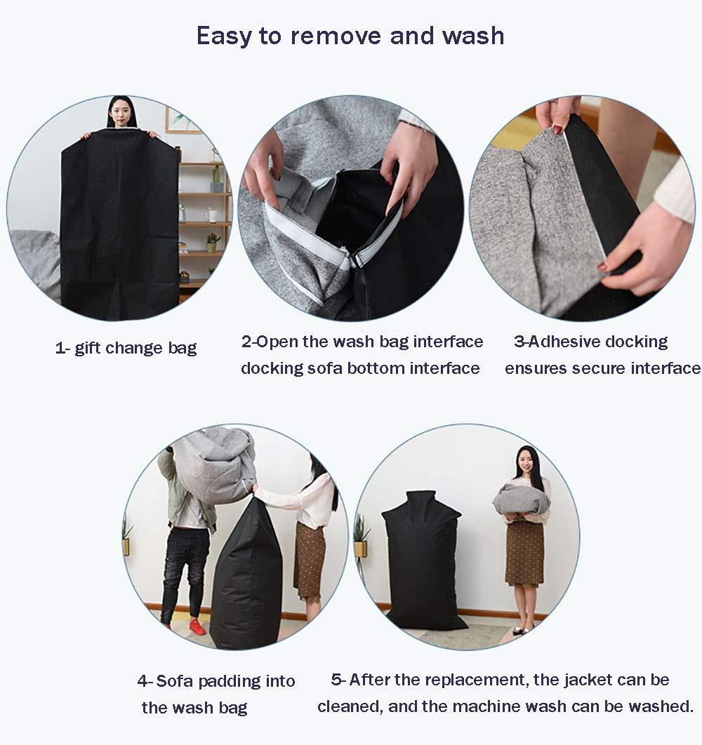 abnehmbare Maschinentasche und gro/ße Liege ergonomisches Design LOVEHOUGE Sitzsack mehrere Farben zur Auswahl ,G,35X43