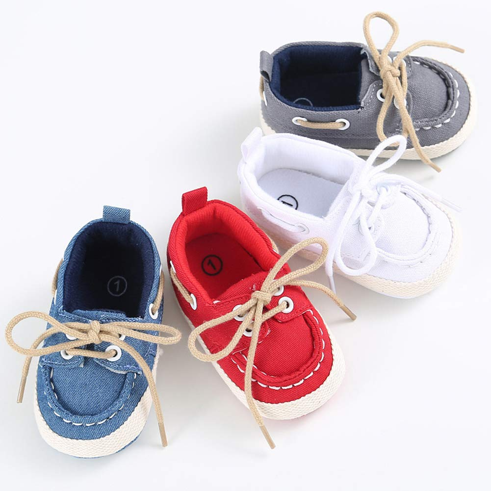 Fashionwu Newborn Baby Denim Shoes Unisex Soft Sole Toddler Shoes