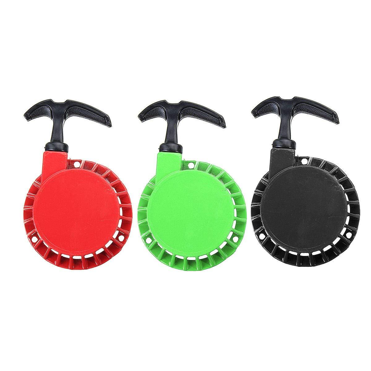 RENCALO 2Pcs Metal 49cc Universal Pull Starter And Flywheel For Dirt Bike Mini Moto Quad 49cc-Green