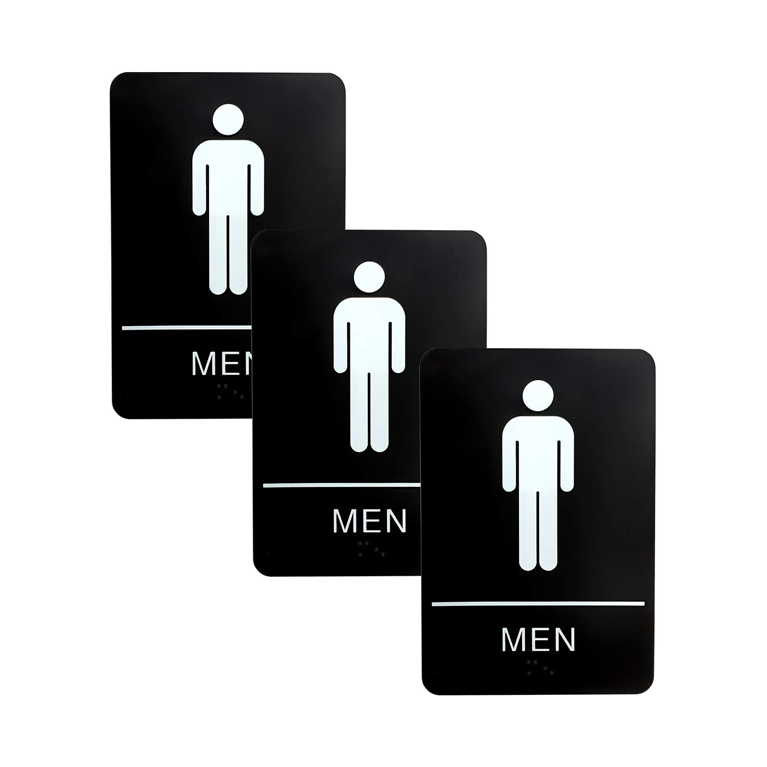 2 Pack, Unisex Unisex Men And Women Bathroom And Restroom Signs ADA Approved Public And Private Indoor Outdoor Areas With Raised Tactile Braille Writing System