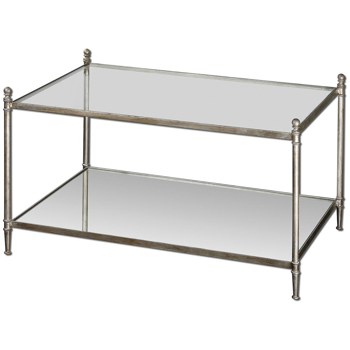 Amazon.com: Uttermost 24281 Gannon Mirrored Glass Coffee Table: Kitchen &  Dining