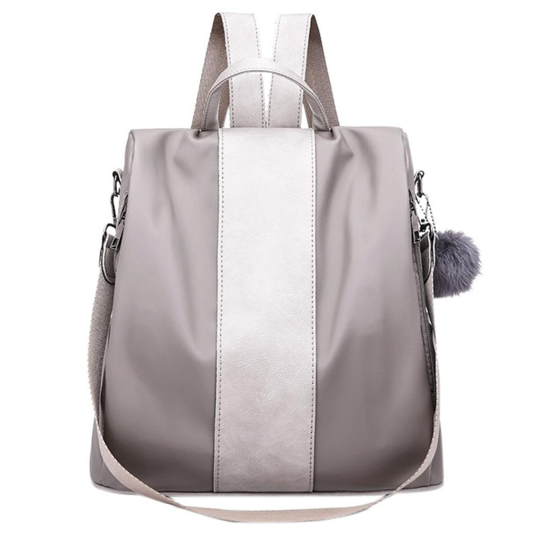 Nadition Fashion Oxford Bag Student Bag Backpack Shoulder Crossbody Bag Travel Bag College School Bag Casual Bag