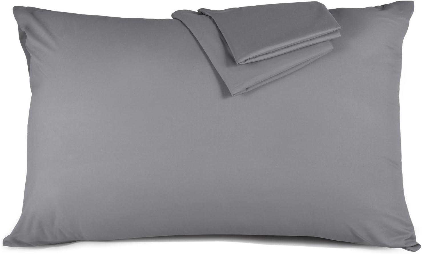 ADORIC Taie doreiller 50x70cm Taies dOreillers 100/% Microfibre Doux Confortable Peu Salissant 50cmx70cm-Noir Lot de 2
