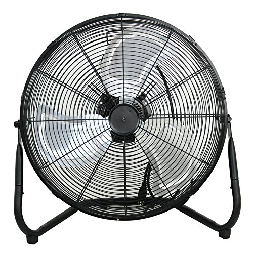 Smartxchoices 20' Black Portable Heavy Duty High Velocity 110V Cyclone Floor Fan Commerical Industrial Home Use