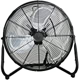 Pro High Velocity Cradle Floor Fan,Industrial Strength Fan, 3-Speed,18 (20, black)