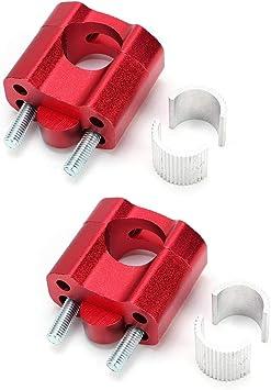 Alinory 1 Paar 22mm 28mm Lenkerklemmen Lenker Riser Für Motorrad Modifikation Zubehör Rot Auto