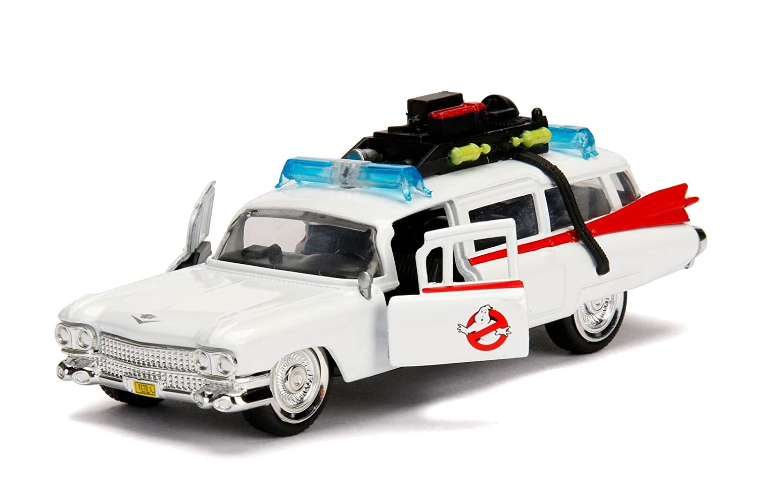 Jada Toys Hollywood Rides: Ghostbusters Ecto-1 Die-Cast Collectible Toy Model Car/Vehicle, 1:32 Scale JA99541