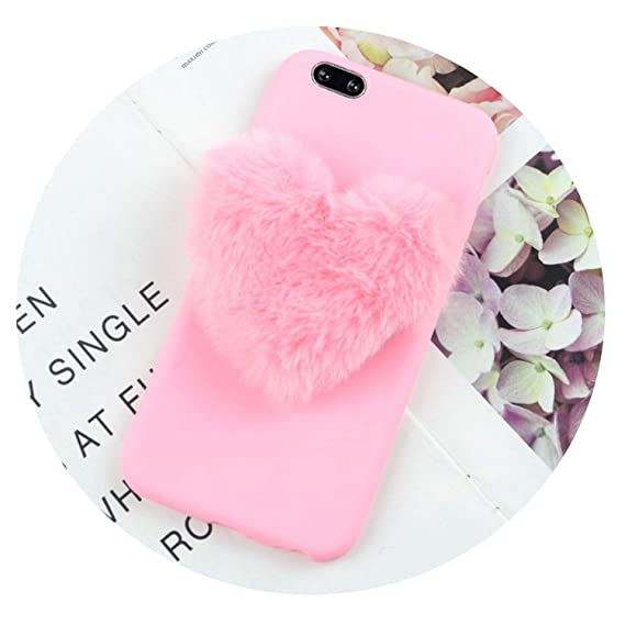 Amazon.com: Furry Love Hearts Cute Hair Phone Case for ...
