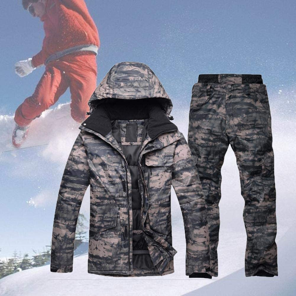 Waterproof Snow Snowboarding Ski Insulated Cargo Pants Camo Mens Size S to XL