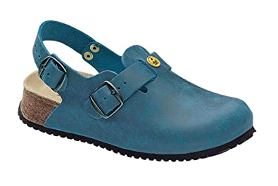 Men's ESD Antistatic Wedge Sole Leather Clog