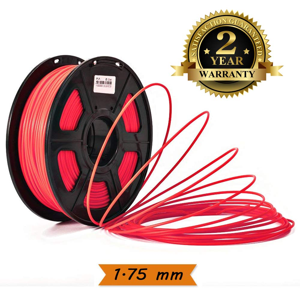 3D Printer Filament 1.75mm PLA Filament Black 3D Printing Filament PLA Plus 2.2 LBS ( 1 KG ) Spool 3D Filament for 3D Printers & 3D Pens , Low Odor , Dimensional Accuracy +/- 0.02 mm-Colorfish