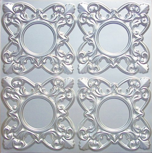 Discounted Faux Tin Silver Ceiling Tile,# 133 Can Be Glue...