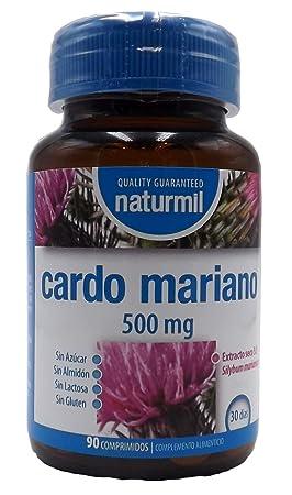 Cardo Mariano 500 mg 180 comprimido (dos botes de 90) sin aditivos, extracto