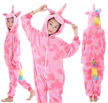 Ecommerce Trade LTD Blue White Pink Purple Rainbow Star Unicorn Kids Ladies  Girl s Onesie fancy dress d1ee920f4