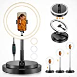 Phone Ring Light Selfie Light, One Fire Ringlight Stand, 11 Inch LED Ring Light with 67 Inch Stand, Circle Light Desktop Port