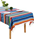 BOXAN 59 x 84 in Mexican Tablecloth for Mexican