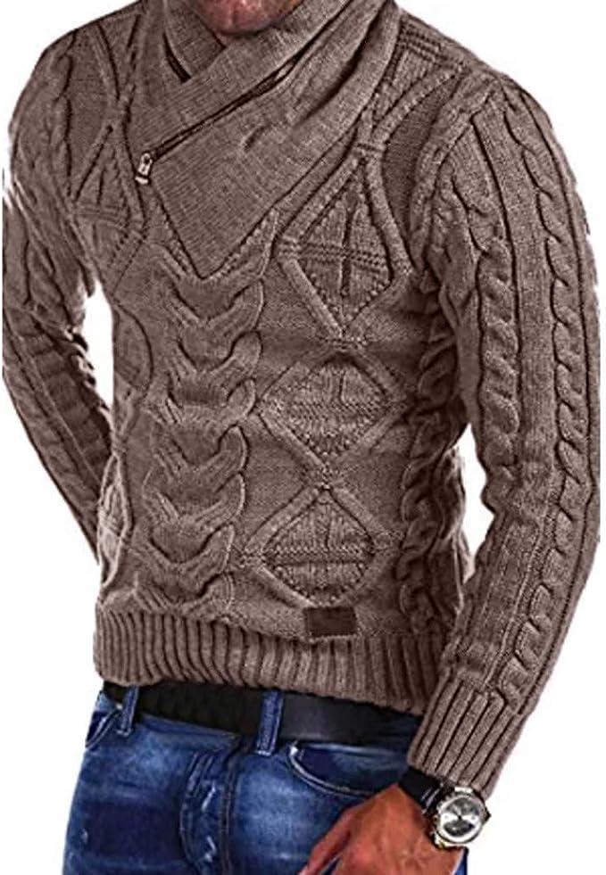 Herren Pullover Langarm Sweater Strickpullover Herbst Winter Freizeit Warm Pulli