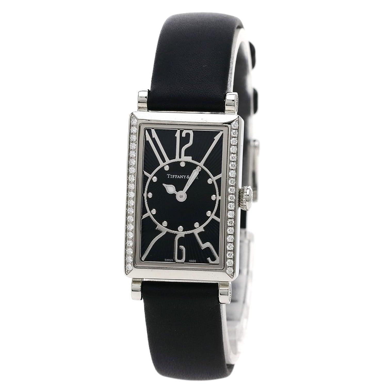 [ティファニー]ギャラリー ダイヤモンド 腕時計 ステンレス/革 レディース (中古) B07BSYVR5T