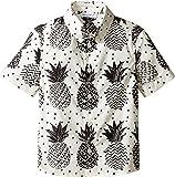 Dolce & Gabbana Kids Baby Boy's Pineapple Button Down (Toddler/Little Kids) White Print Button-up Shirt