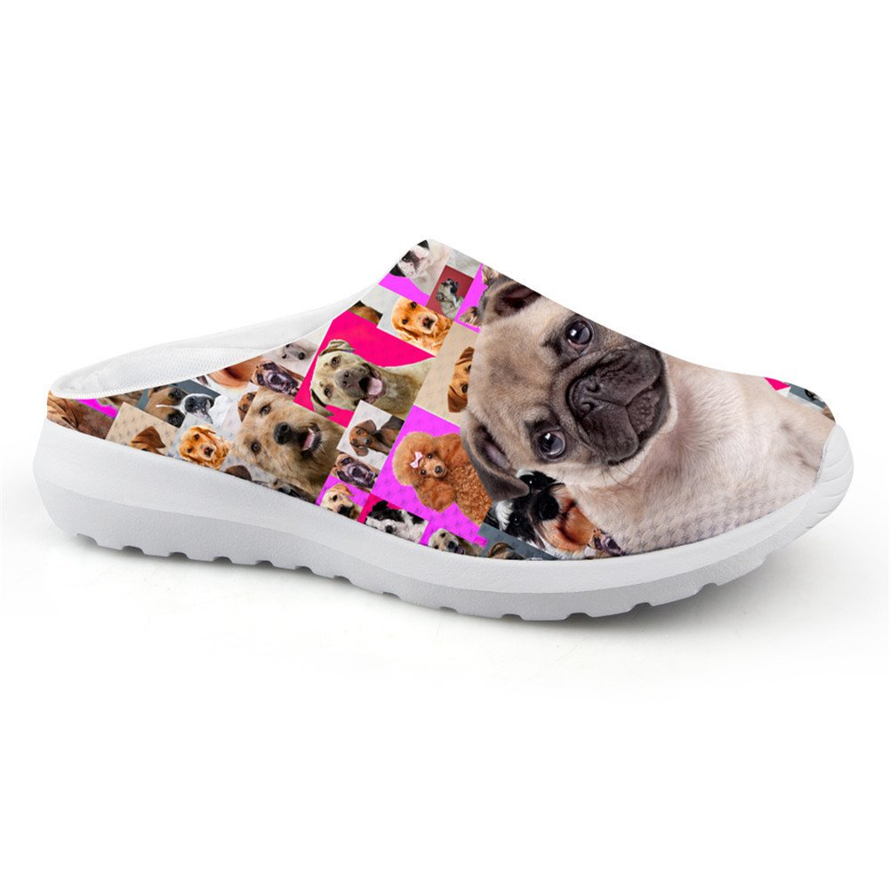 Bigcardesigns Funny Pug Print Female Lightweight Casual Loafers 39