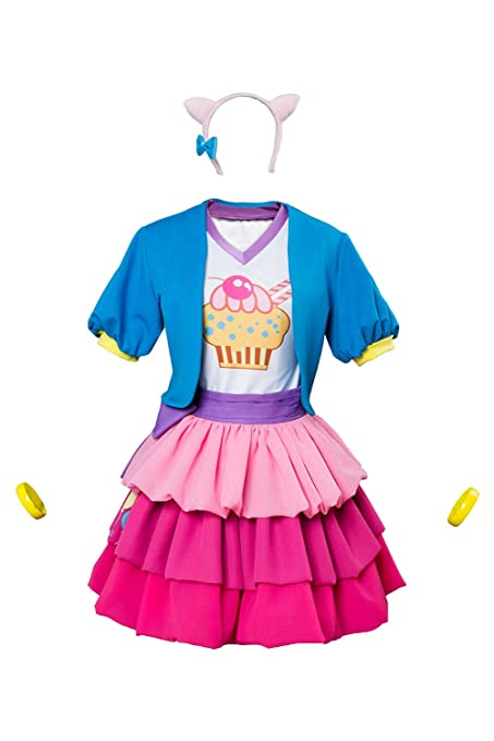 MingoTor Anime Pinkie Pie Poni Vestido Disfraz Traje de ...