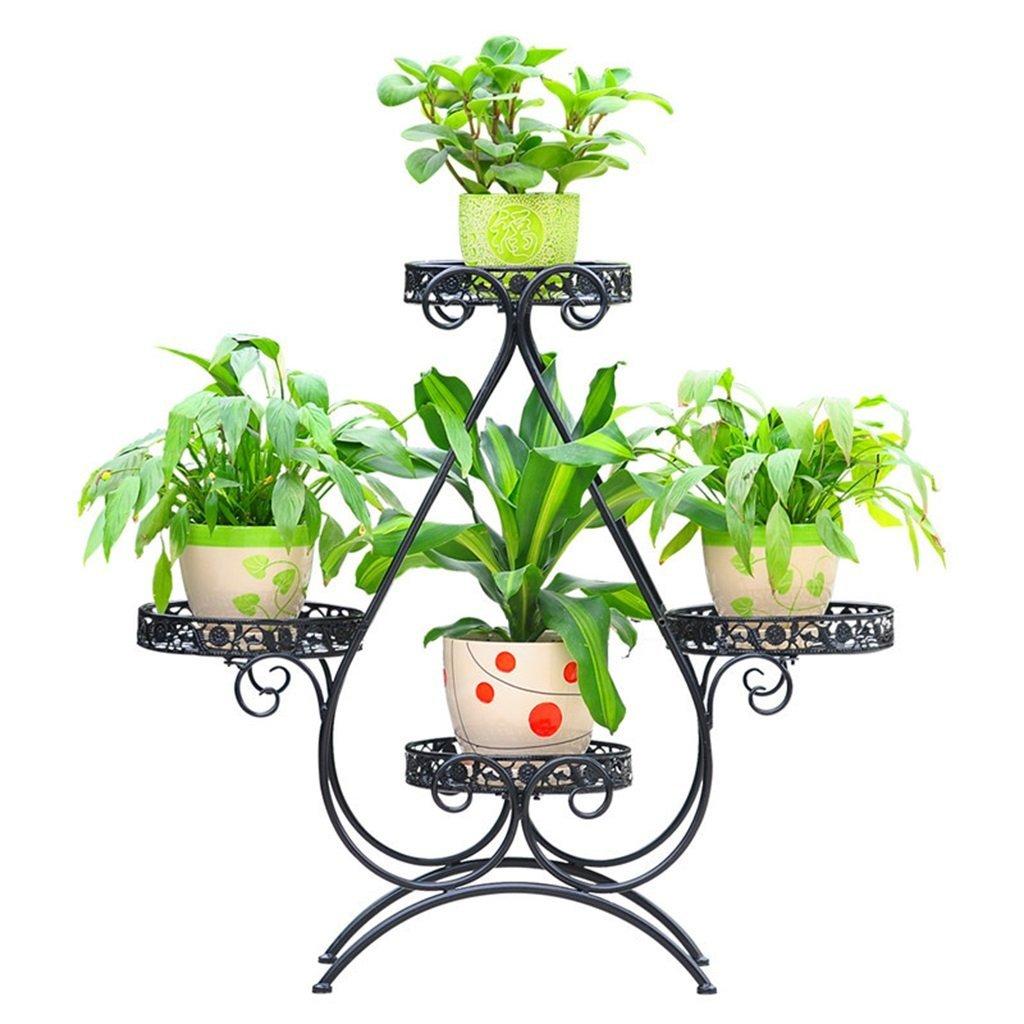 GYAO-Scaffali porta piante Stendibiancheria in Ferro battuto a Terra Vaso Multistrato a Stelo in Stile Europeo Salotto Balcone verde Luo LAN LAN Vaso Porta Fiori a Fiori Ripiano Fiori