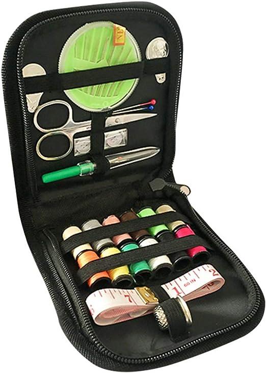 SUPVOX 45 piezas de costura DIY Kit de inicio, suministros de costura para DIYBundle con tijeras, dedal, hilo, agujas, cinta métrica, estuche y accesorios: Amazon.es: Hogar