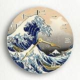 The Great Wave off Kanagawa Hokusai Kanji Numerals 12″ Wall Clock Review