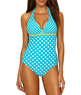 b3252de83a2b2 Starboard Halter Underwire Tankini Top at Amazon Women's Clothing store:
