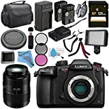 Panasonic Lumix DC-GH5S Mirrorless Micro Four Thirds Digital Camera + Panasonic Lumix G Vario 45-200mm f/4-5.6 II POWER O.I.S. Lens + DMW-BLF19 Lithium Ion Battery + 128GB SDXC Card Bundle