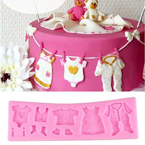 3D Silicone Fondant Mould Baby Shower Jabón Cake Decorating Chocolate Baking Mold Tool/Textura Mat