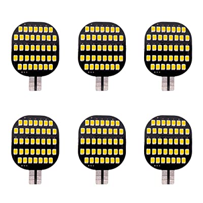 GRV T10 921 194 C921 LED Light Bulb 38-2835 SMD Super Bright Lamp DC12V 13V 2.5Watt for Car Boat RV Trailer Camper Motorhome Ceiling Dome Interior Lights Warm White Pack of 6: Automotive