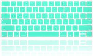 MMDW Ultra Thin Silicone Keyboard Protector Cover Skin for iMac Magic Keyboard & Magic Keyboard 2 (Without Numeric Keypad, U.S Version, Model: MLA22L/A--A1644)(Tiffany Blue)