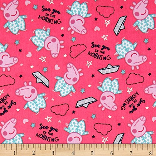 Springs Creative Products 0588930 Springs Creative Entertainment One Peppa Pig Sea You in The Morning Coral Fabric by The Yard,