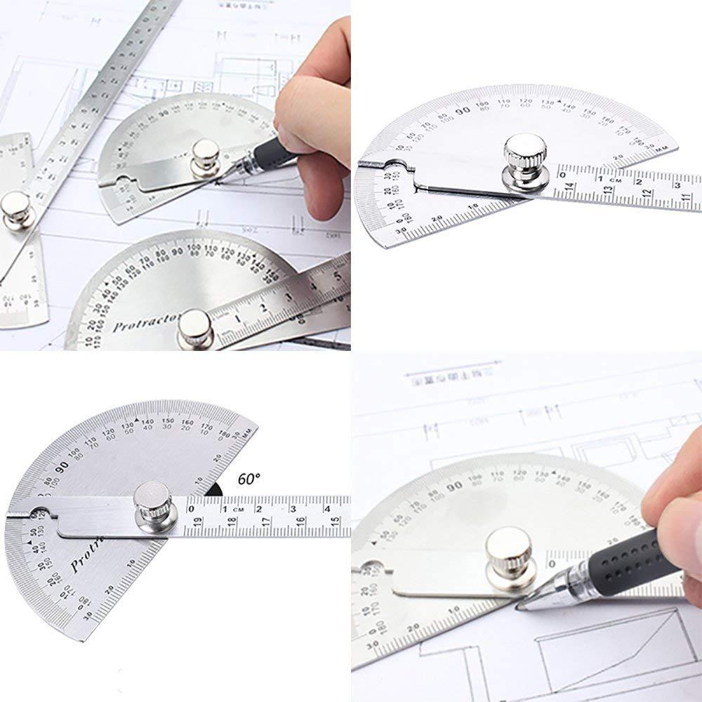 R/ègle de goniom/ètre en acier inoxydable de 0 /à 180 degr/és avec capteur dangle outil de vis/ée angulaire
