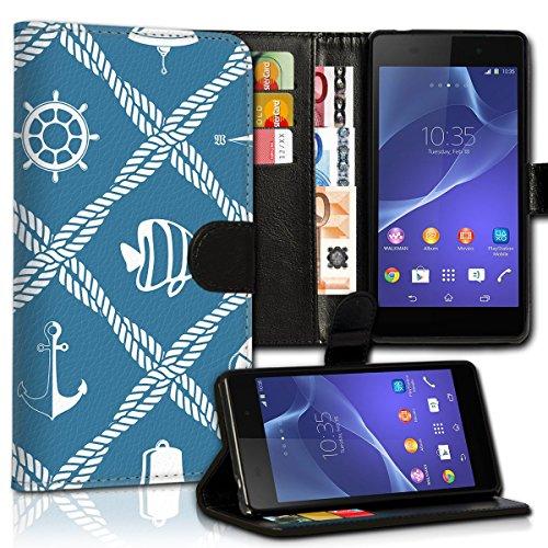 Wallet Book Style Flip Handy Tasche Case Schutz Hülle Schale Motiv Etui für Apple iPhone 4 / 4S - Design Flip MVD124
