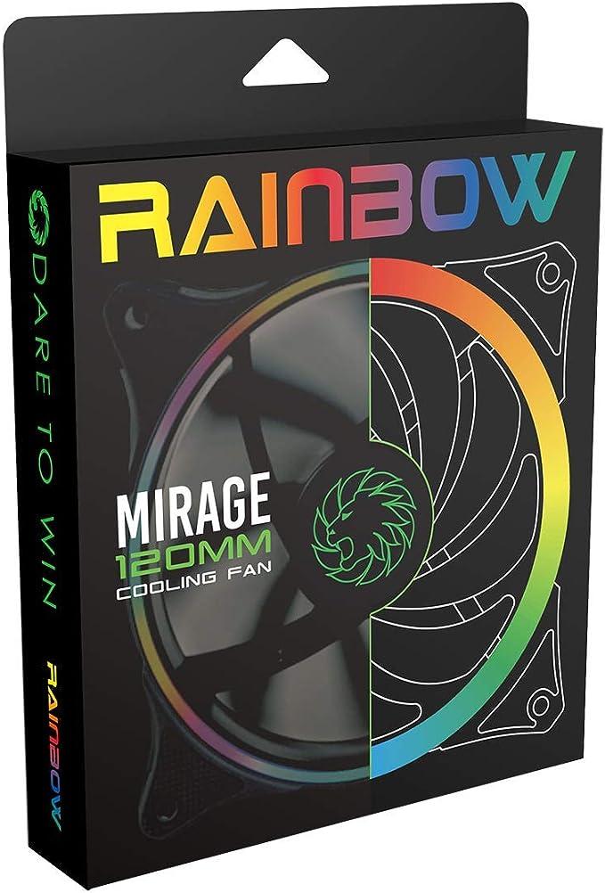 GAMEMAX Rainbow Force Ventola Raffreddamento da 120 mm Fan Cooling 16 LED RGB Rainbow 1100 RPM Addressable 5V 3pin ADD RGB SYNC ASUS Aura SYNC GIGABYTE RGB Fusion MSI Mystic Light SYNC