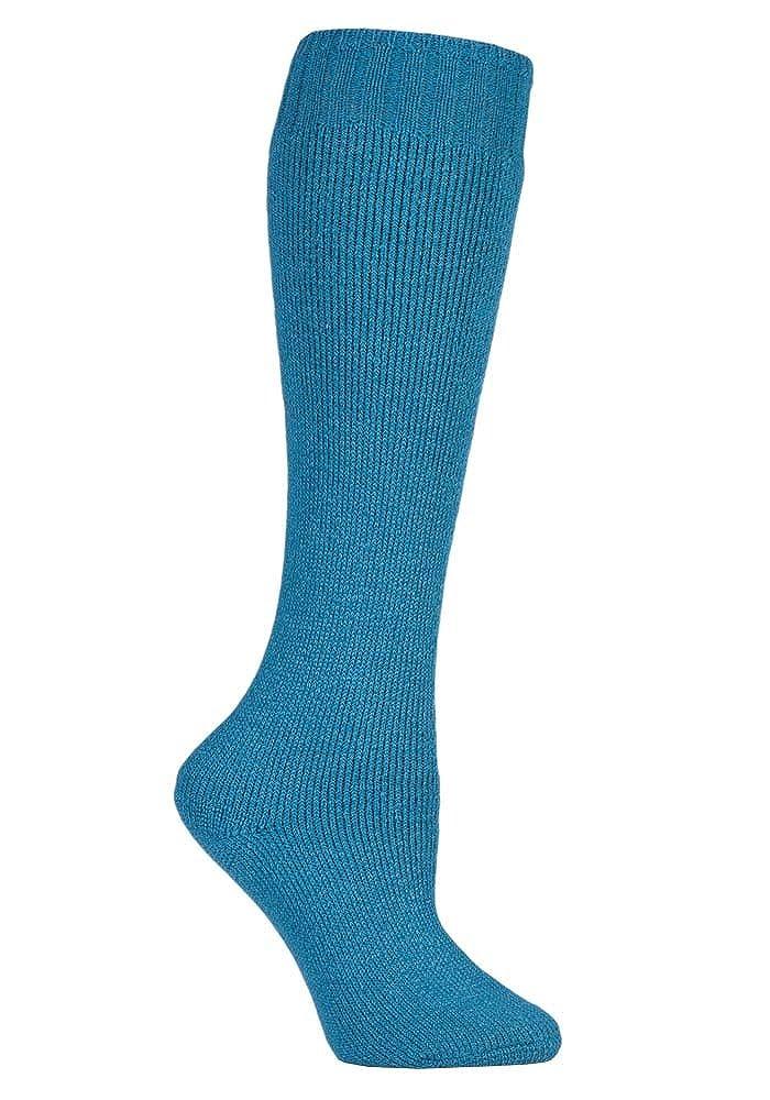 David James - mujer 2 pares invierno calientes grusos largos vistoso calcetines lana para botas de agua 37-42 eur (2 pares, Azul): Amazon.es: Ropa y ...