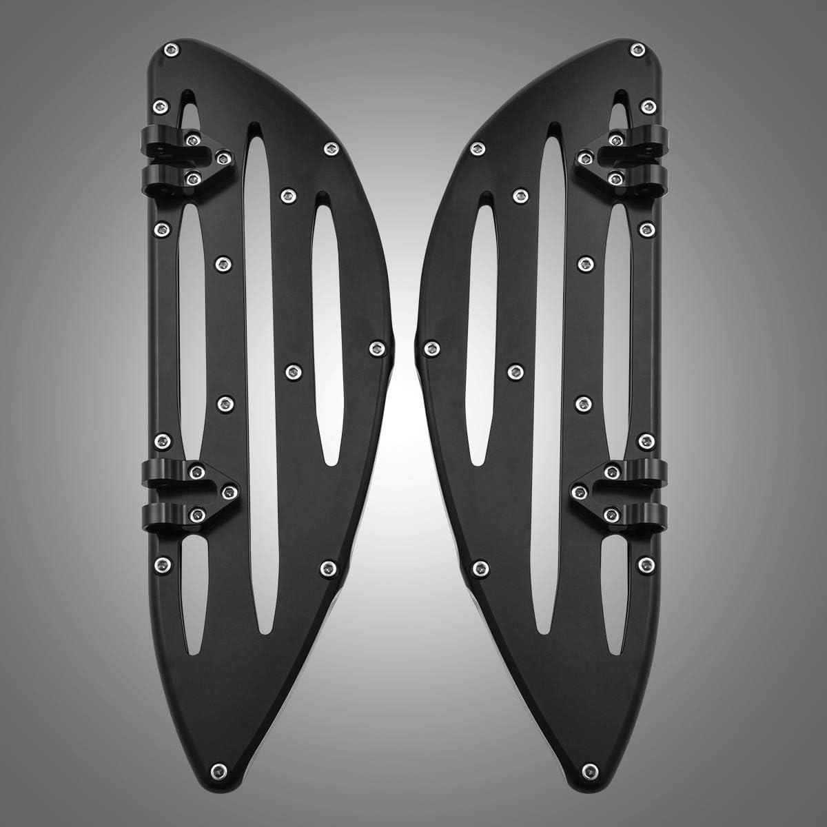 KaTur Moto Montage CNC Marche-Pied Avant Marchepieds Pieds P/édale De Frein Couvre Pieds Couverture pour Harley Touring FLH Road King