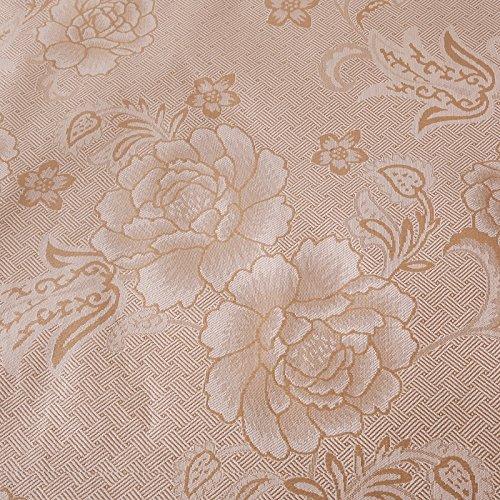 Zhiyuan Folding Non-Slip Peony Silky Synthetic Rattan Cooling Summer Sleeping Mat Pillowcases Set,Queen,Light Coffee