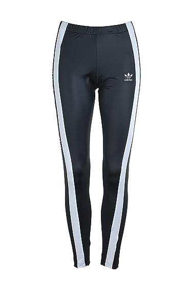 55fded8bd Amazon.com: adidas Originals Women's 3-Stripes Tights Black/White ...