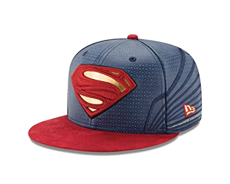 7452579628b Amazon.com  Superman Justice League Armor 59Fifty Fitted Hat  Clothing