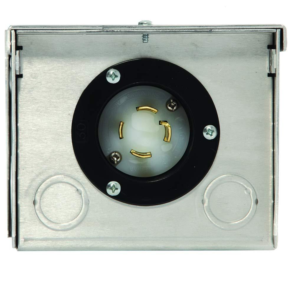 Generac 6343 30-Amp 125/250V Raintight Aluminum Power Inlet Box by Generac (Image #2)