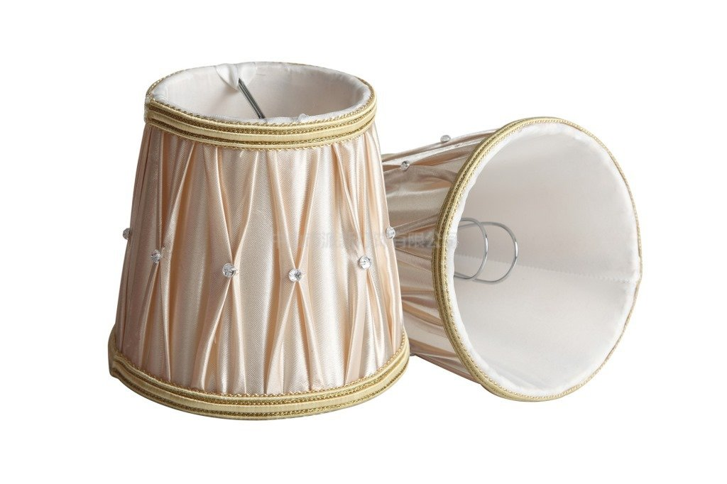Stile Europeo clip si paralume a pinza in tessuto Handmade di Splink per candela lampadario lampada da tavolo applique 85* 120* 250mm, Set di 2 TB009890